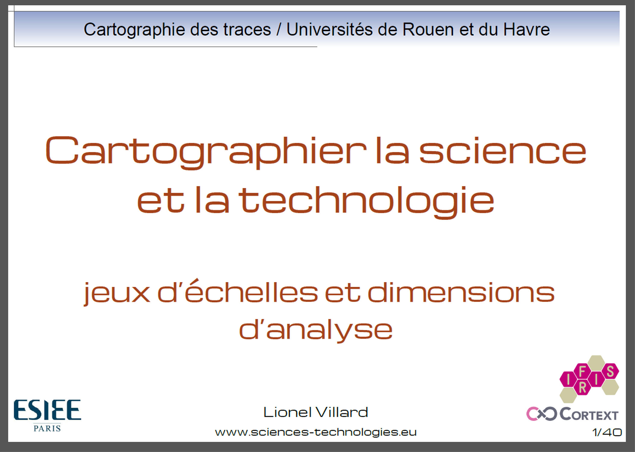 Cartographier la science et la technologie